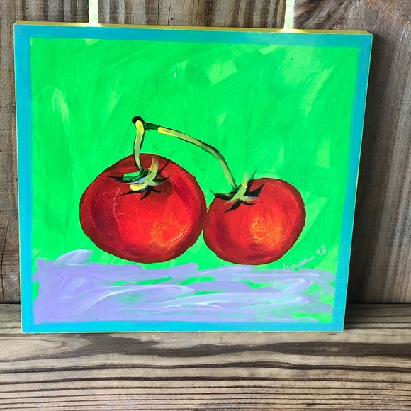 """Foreside Painted Vegetables """"Tomatoes"""" by S Minor"""